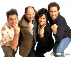 The wildly successful sitcom, Seinfeld, was the result of Larry David's superb screenwriting.