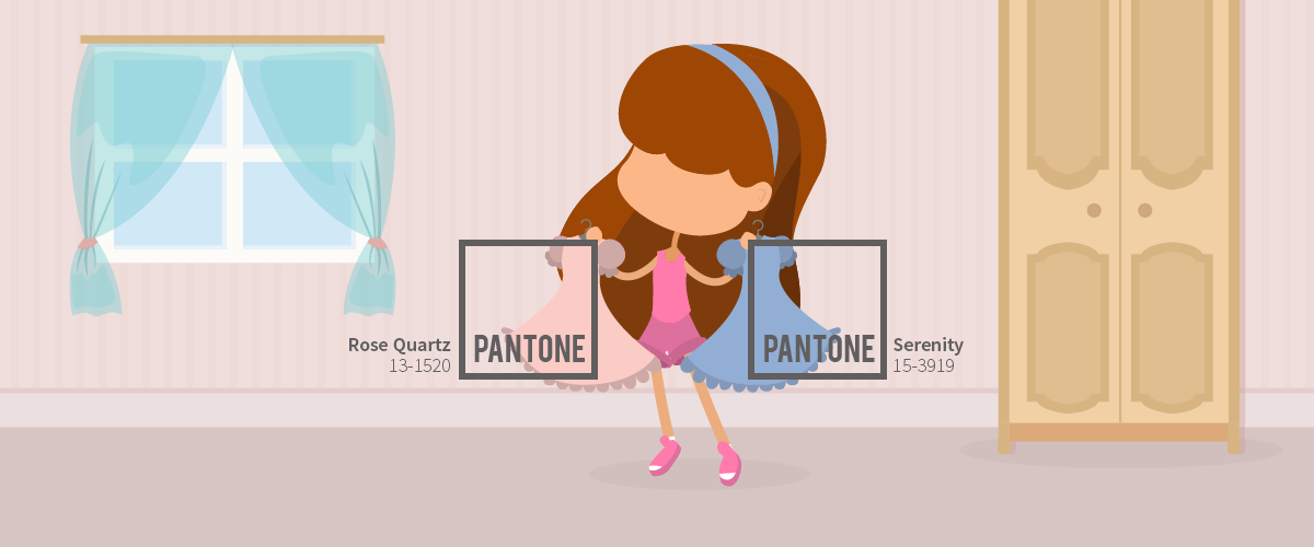 choosing color template: pantone color of the year