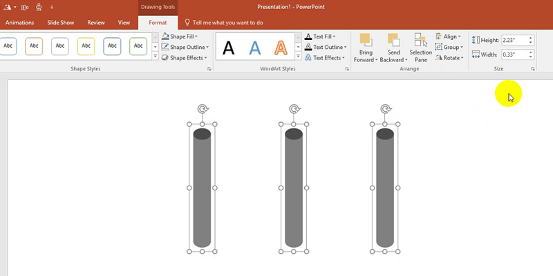 how to make each line appear separately on powerpoint 2016