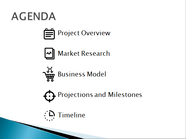 agenda slide enhanced