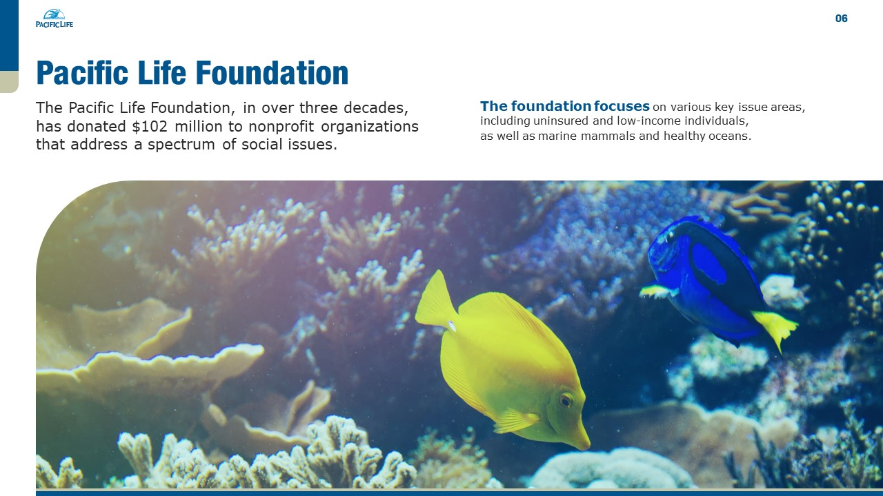 Pacific Life Foundation PowerPoint Presentation Slide Examples 6