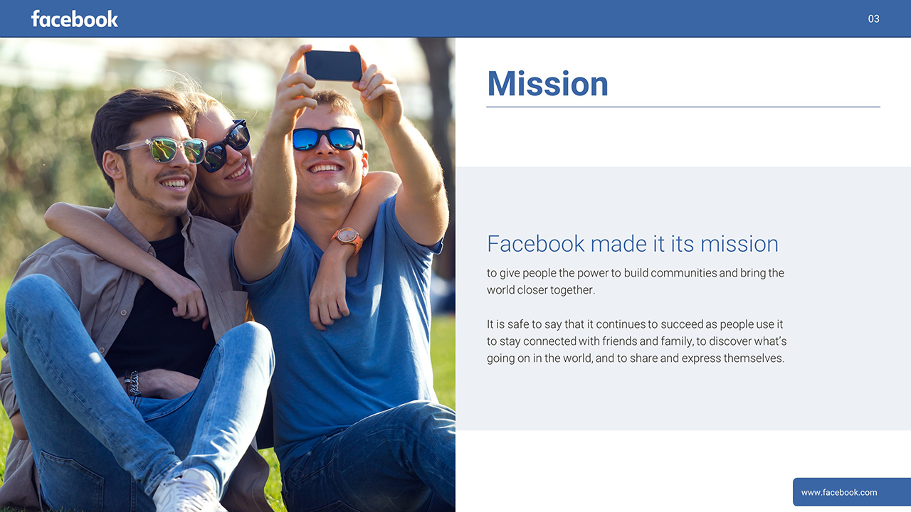 Facebook PowerPoint Presentation Slide Examples 3