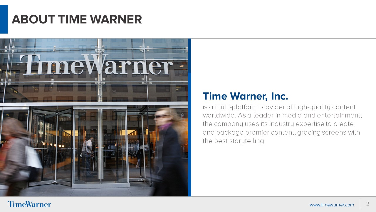 Time Warner PowerPoint Presentation Slide Examples 2