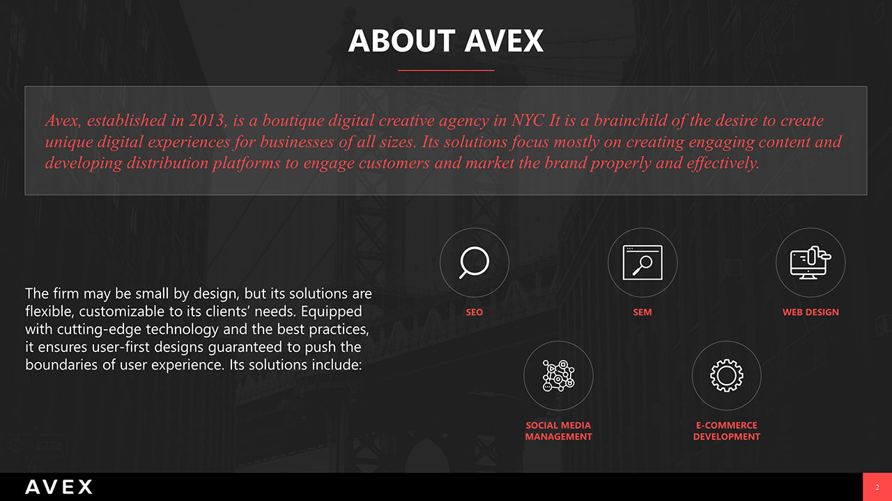 AVEX PowerPoint Presentation Slide Examples 2