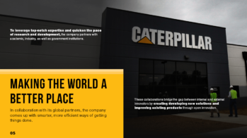 Caterpillar PowerPoint Slide Design Example 5