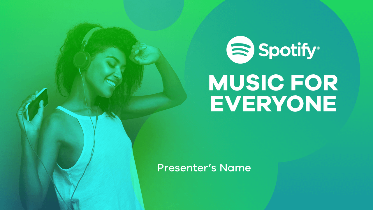 Spotify PowerPoint Slide Design Example1